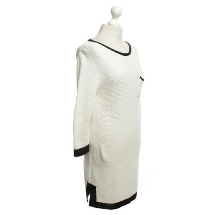 Marc Cain Gebreide jurk in zwart / White
