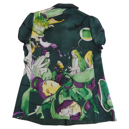 Prada Prada Silk James Jean Fairy Top