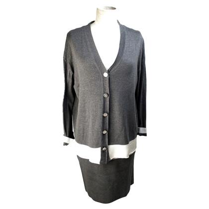 Ferre Gianfranco Ferre vestito di seta grigio di seta