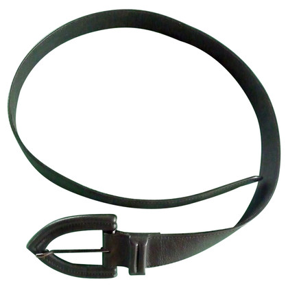 Yves Saint Laurent Black leather belt