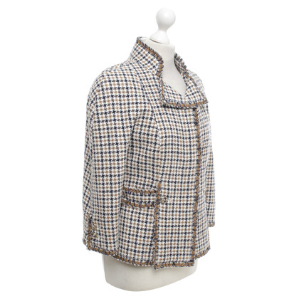 Chanel Bouclé-Jacke mit Hahnentrittmuster
