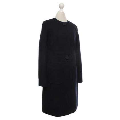 Other Designer Luisa Spagnoli - Knitted coat in navy blue