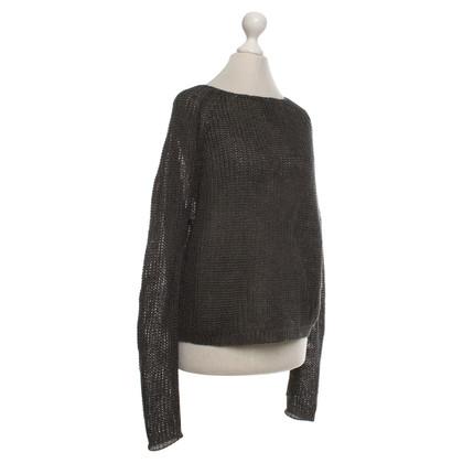 Iris von Arnim Openwork sweater in anthracite