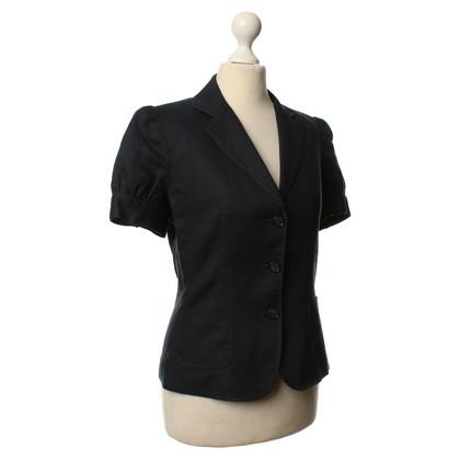 Tahari Manica corta giacca navy