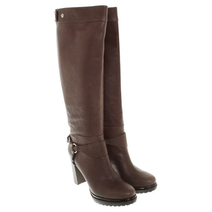 Laurèl Leather Boots in Brown