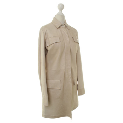 Aigner Leather coat in beige