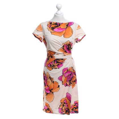 Luisa Cerano Baumwoll-Kleid mit floralem Print