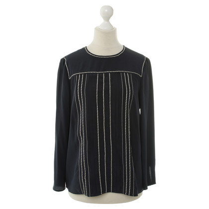 Prada Dark blue silk blouse