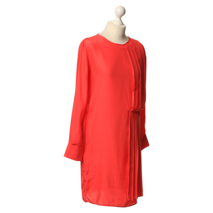 Holy Ghost Robe en soie rouge