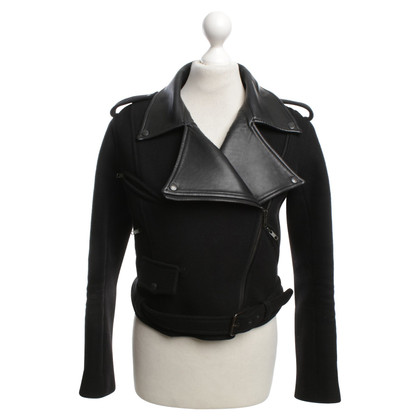 Christopher Kane biker jacket with leather details