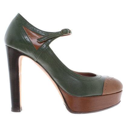 L'autre Chose pumps in green / brown