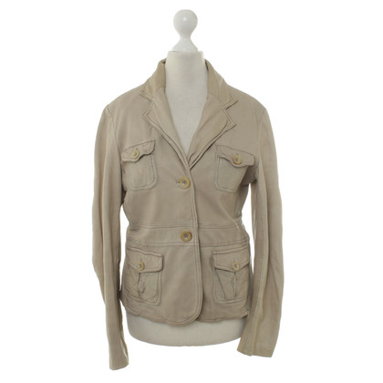 Closed Lederjacke in Beige