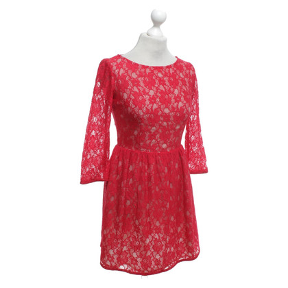 French Connection Lace dress in red
