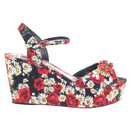 Dolce & Gabbana Wedges with floral pattern