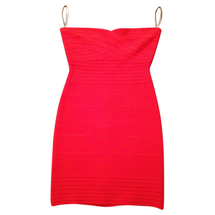 Herve Leger  Strapless Dress Orange