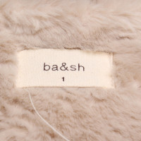 Bash Faux manteau de fourrure beige