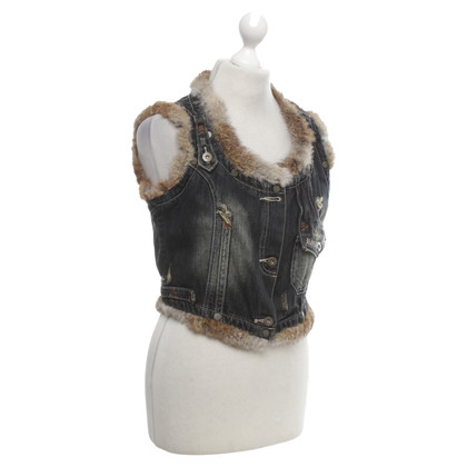 Stefanel Vest in used look