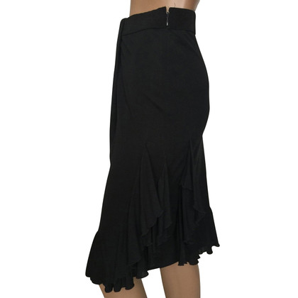 Red Valentino Black jersey ruffle skirt