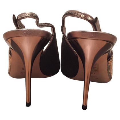 Gucci Bronze heels