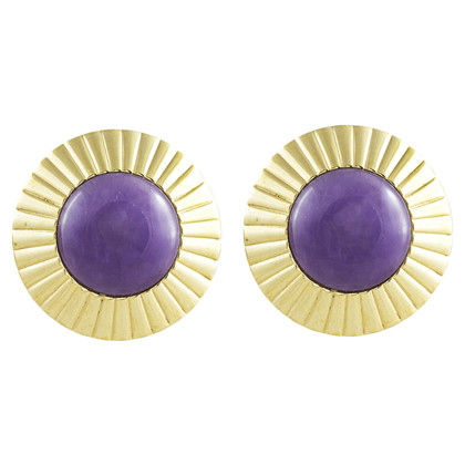 Givenchy Gold colored ear clips with stone