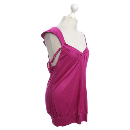 John Galliano Spaghetti top in fuchsia