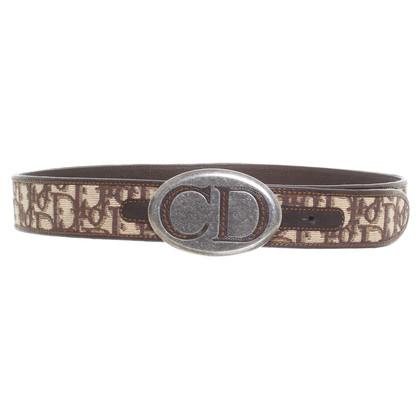 Christian Dior Cintura con fibbia logo