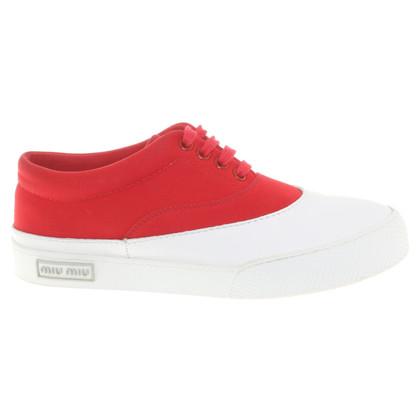 Miu Miu Sneakers in rosso / bianco