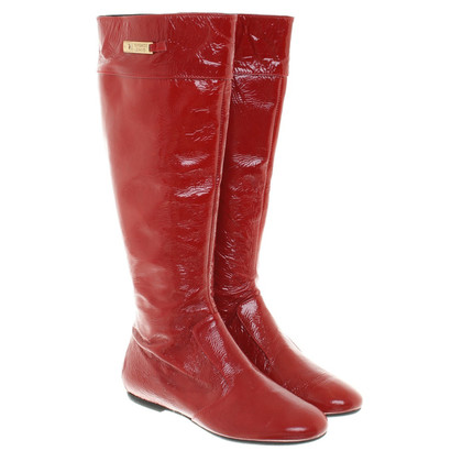 Versace Patent leather boots in Red