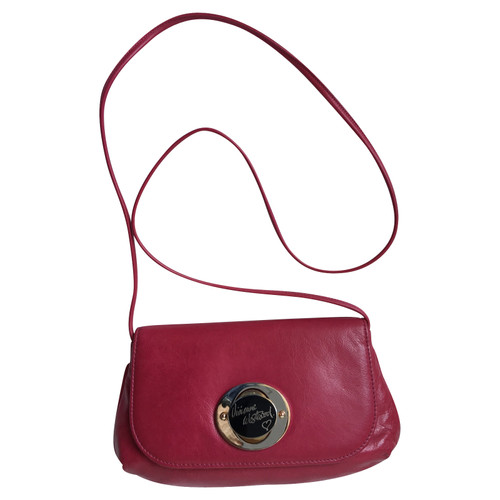 ea46b4aa3b Vivienne Westwood Shoulder bag Leather in Fuchsia - Second Hand ...