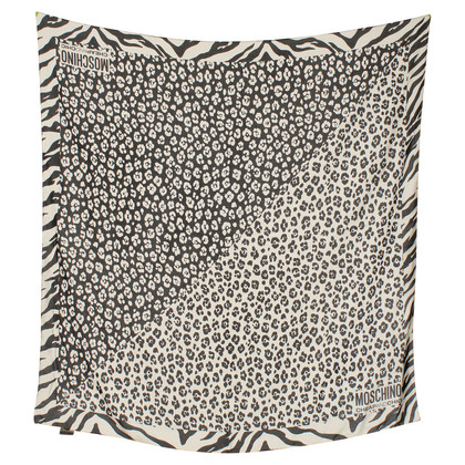 Moschino Cheap and Chic Silk scarf with motif
