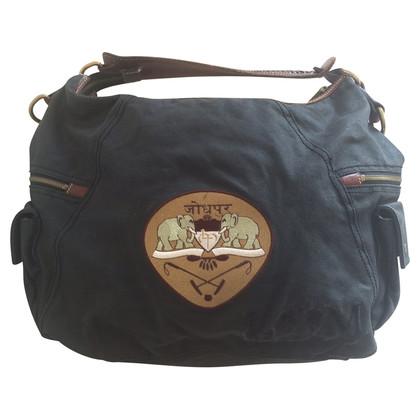 La Martina Canvas and leather bag