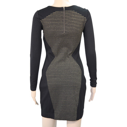 French Connection Striped dress in black