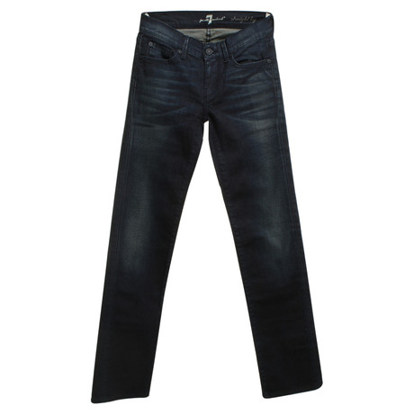 7 For All Mankind Jeans in Dunkelblau Blau