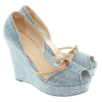 Gucci Wedges met Guccissima patroon