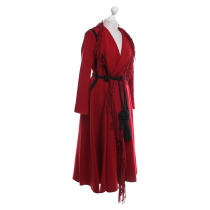 Lanvin Mantel in Rot/Schwarz