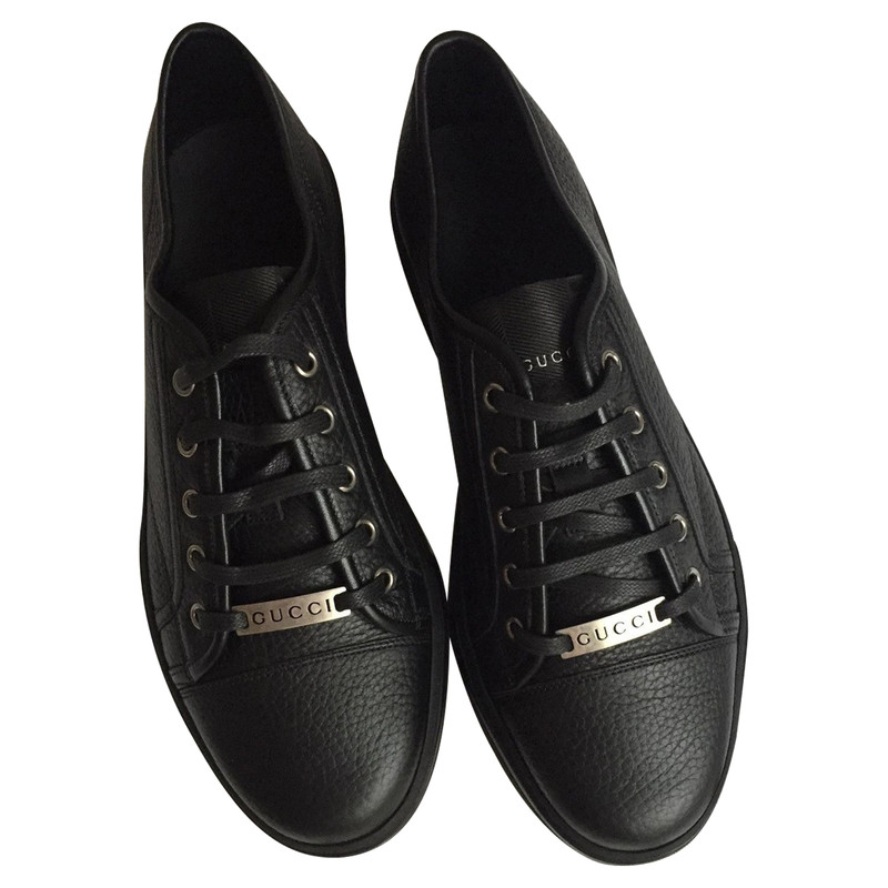 Gucci Lace-up shoes Leather in Black