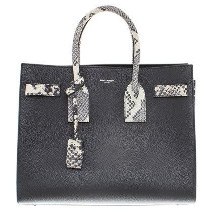 Saint Laurent Handbag with phyton embossing