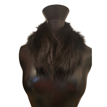 Prada collo di pelliccia di volpe