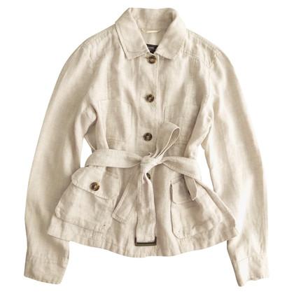 Max Mara Short linen trench coat