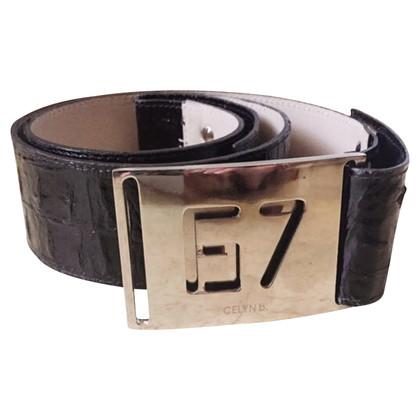 Elisabetta Franchi Coconut print leather belt