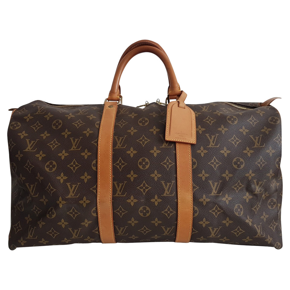 louis vuitton keepall 50 monogram canvas buy second hand louis vuitton keepall 50 monogram. Black Bedroom Furniture Sets. Home Design Ideas