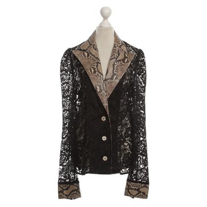 Dolce & Gabbana Lace Blazer met Python trim