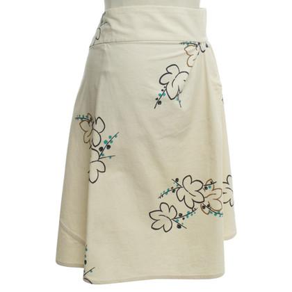 Marni skirt in beige / multicolor