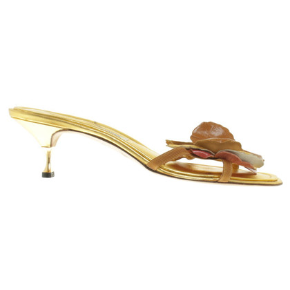 Manolo Blahnik Gold colored sandals
