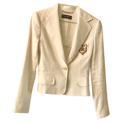 Dolce & Gabbana Veste en lin blanc