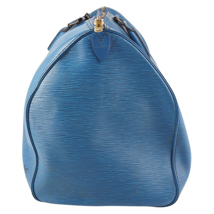 "Louis Vuitton ""Keepall 55 EPI leather"" in blue"