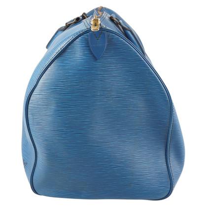 "Louis Vuitton ""Keepall 55 Epi Leder"" in Blau"