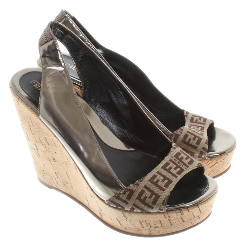 Fendi Sandals with wedge heel