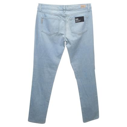 Paige Jeans Boyfriend jeans with rhinestone trim