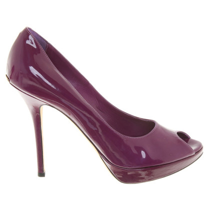 Christian Dior Peeptoes patent leather